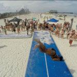 AirTrack im Sand